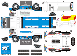 100 Trucks Paper DAF Turbotwin Dakar Rally Trucks Paper Dakar Pinterest