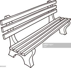 Park Bench Drawing Vector Art