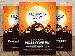 Free Halloween Flyer Templates by Free Halloween Flyer Psd Template Freebiescafe