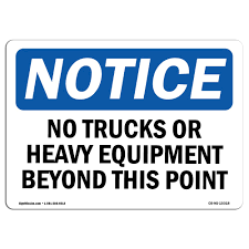 100 Signs For Trucks Amazoncom OSHA Notice No Or Heavy Equipment Beyond
