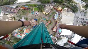 Falcon s Fury 335ft Drop Tower Ride POV Busch Gardens Tampa