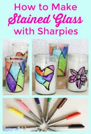 DIY Faux Stained Glass Candle Holders