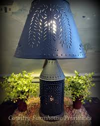 Punched Tin Lamp Shade Country by Country Primitive U0026 Colonial Inspired Home Decor