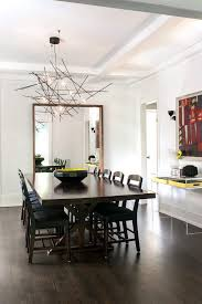Toronto Shell Light Fixture Dining Room Contemporary With Retro Transitional Kids Chairs Dark Wood Floor
