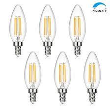 shine hai candelabra led filament bulbs dimmable 40w equivalent