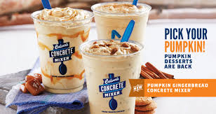 Pumpkin Pie Blizzard Calories Mini by Concrete Mixers Frozen Custard U0026 Candy Mixers Culver U0027s