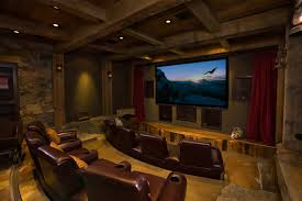 Home Theater Living Room Ideas Eclectic With Timber Accents Rustic Ele