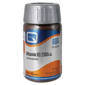 Quest Vitamin D3 2500iu 60 Tabs