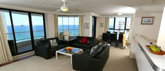 Biarritz Broadbeach Three Bedroom Basic Apartment Living Area