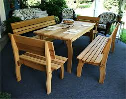 Nice Cedar Patio Furniture Chickadee Dining Set