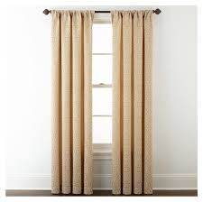 Jcpenney Curtains For Bay Window by Home Decor Bay Window Double Curtain Rod Edison Bulb Chandelier