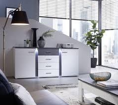 innostyle sideboard spurt in weißmatt betonoxid dunkel 170x87 cm