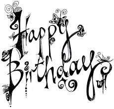 Happy birthday black and white birthday party clipart black and white
