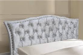 White Velvet King Headboard by Georgio Crushed Velvet Silver Bed Frame Double Or King Size