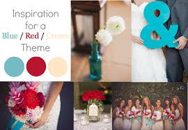 Blue Red Cream Wedding Color Inspiration