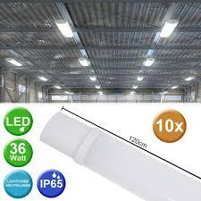 etc shop außen deckenleuchte 10er set smd led wannen leuchten garagen keller werkstatt decken röhren industrie beleuchtung len kaufen