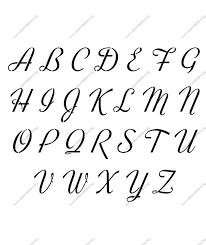 Retro Vintage Cursive Uppercase & Lowercase Letter Stencils A Z 1 4