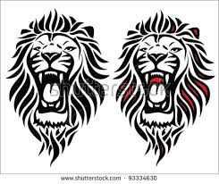 Isolated Tribal Lion Tattoo