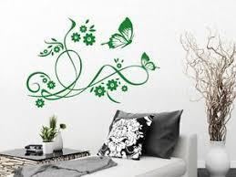 details zu wandaufkleber wanddeko sticker für wohnzimmer schmetterlinge blumen blüte