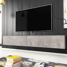 selsey fernsehschrank tv lowboard hängend stehend in beton optik 180 cm