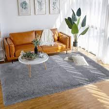 80 x 150 cm braun shaggy teppich wohnzimmer kunstfell fell