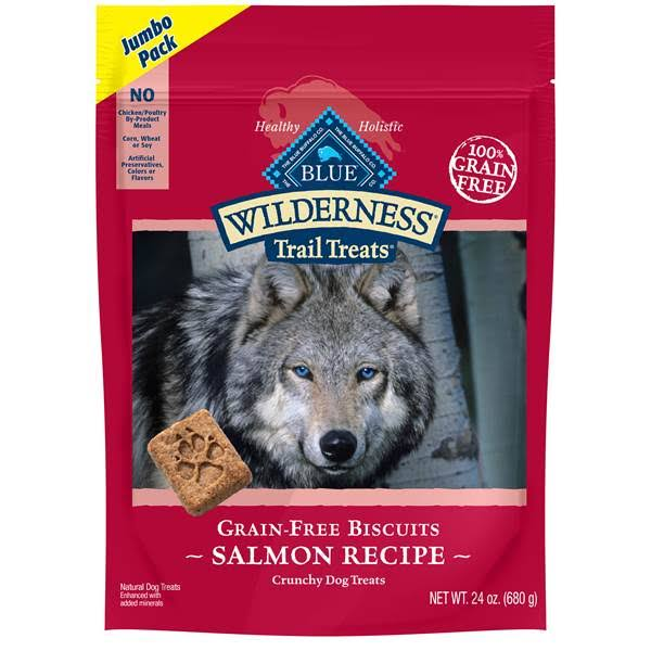 Blue Wilderness Trail Treats Dog Treats, Salmon Recipe, Crunchy, Jumbo Pack - 24 oz