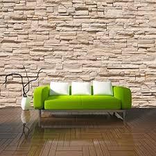 fototapete stein steinwand steinoptik braun 350x245 cm