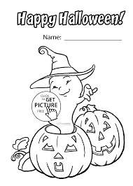 Halloween Funny Ghost Coloring Page For Kids Printable Free