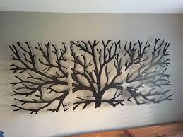 Metal Wall Art Decor 3D Sculpture 3 Piece Tree Brunch Modern Vintage Abstract