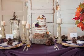 Naked Style Wedding Cake Rustic Fall Inspiration