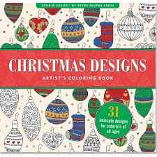 Christmas Designs Adult Coloring Book 31 Stress Relieving Studio