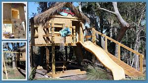 Backyard Sheds Jacksonville Fl by Garrett U0027s Lofted Tiki Hut Custom Kids Playhouse Spots 4 Tots