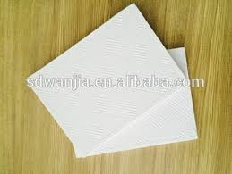 smooth white pvc laminated gypsum ceiling board tiles with ceiling