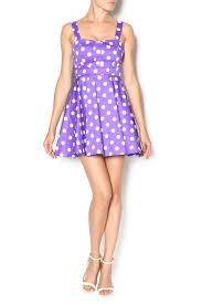 ixia purple polka dot dress from california by mp couture u2014 shoptiques