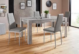 essgruppe lynn160 set 5 tlg tisch mit 4 stühlen