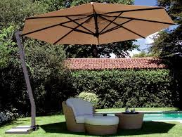 Square Patio Umbrella With Netting by Furniture Charming Cantilever Patio Umbrella With White Netting