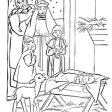Nativity Coloring Sheet Page