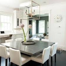 Dining Room Table Centerpiece Ideas Pinterest by Gray Square Dining Table With White Dining Chairs For The Home