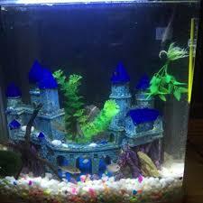 Spongebob Aquarium Decor Set by Amazon Com Nicrew Castle Aquarium Decor Cool Fish Tank Ornament