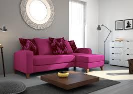canapé d angle de qualité canapé d angle en tissu de qualité saturne fuschia mobilier