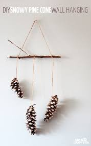 Make This Beautiful Snowy Pine Cone Wall Hanging Such A Pretty And Easy Winter Craft
