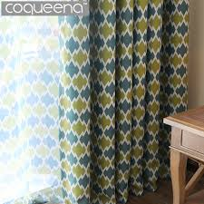 Geometric Pattern Grommet Curtains by Geometric Pattern Window Curtains For Living Room Bedroom Thick