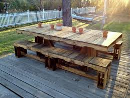 Pallet Patio Ideas Table Like But With Chairs Not Benches Or Home Design 21
