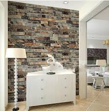 Modern 3d Stone Brick Wallpaper Dining RoomKitchenBathroomOffice