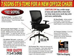 Extended Height Office Chair by 7 Signs That Its Time For A New Office Chair Thats Ergonomic