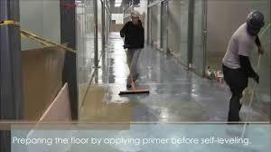 Wood Floor Leveling Contractors by Self Leveling Large Area Floor Youtube