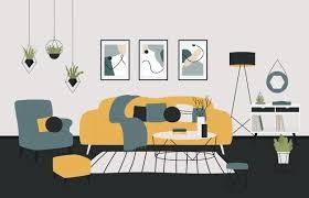 premium vector scandinavian minimalistic style home cozy