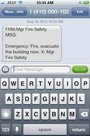 Modern Smart Phone Emergency Text Message