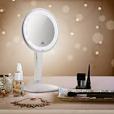 terresa 10x magnifying lighted makeup mirror with acrylic stand