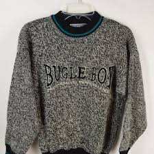 90s Sweater Bugle Boy Jumper XS Teal Soft Grunge Hipster Seapunk Gray Black White Vintage Clothing